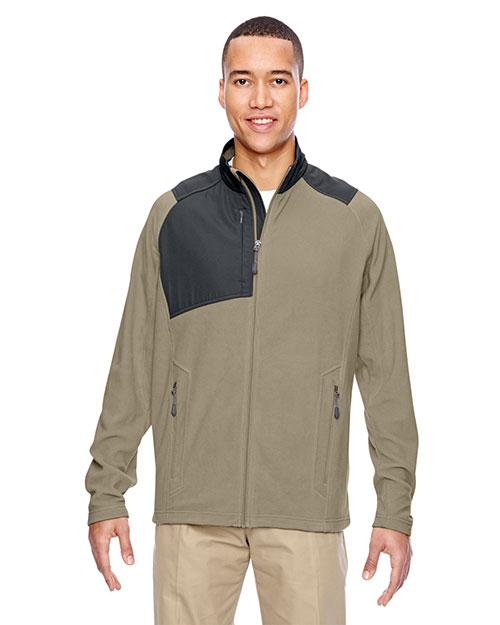 North End 88215 Men Excursion Trail Fabric-Block Fleece Jacket at GotApparel