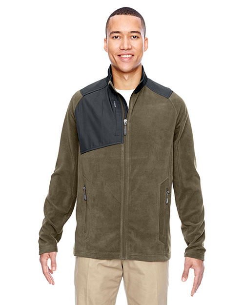North End 88215 Men Excursion Trail Fabric-Block Fleece Jacket at GotApparel