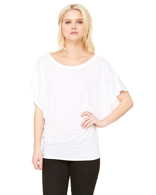 Bella + Canvas 8821 Women Flowy Draped Sleeve Dolman T-Shirt at GotApparel