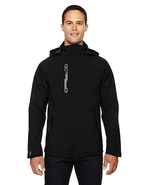 North End 88665 Men Axis Soft Shell Jacket with Print Graphic Accents at GotApparel