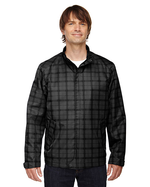 North End 88671 Men Locale Lightweight City Plaid Jacket at GotApparel