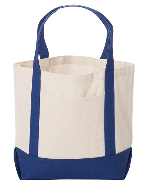 UltraClub 8867 Unisex Seaside Canvas Boat Tote at GotApparel