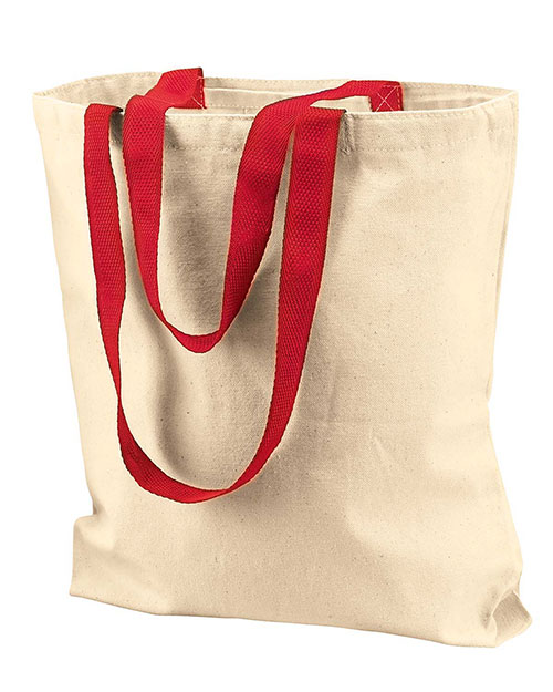 UltraClub 8868 Unisex Tote with Gusset and Contrast Handles at GotApparel