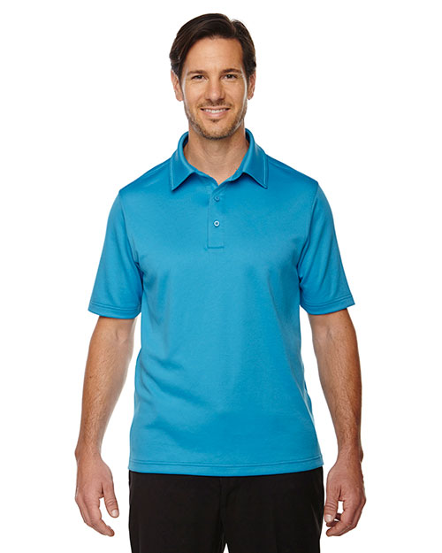 North End 88803 Men Exhilarate Coffee Charcoal Performance Polo with Back Pocket at GotApparel
