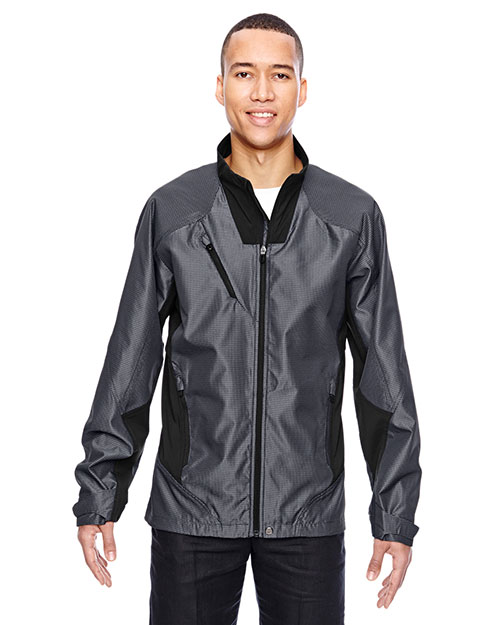 North End 88807 Men Interactive Aero Two-Tone Lightweight Jacket at GotApparel