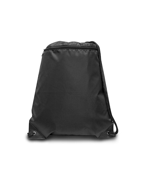 UltraClub 8888 Men Zippered Drawstring Backpack at GotApparel