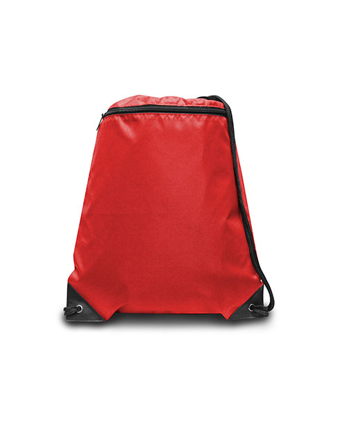 UltraClub 8888 Men Zippered Drawstring Backpack at GotApparel