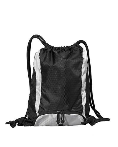 UltraClub 8890 Unisex Santa Cruz Drawstring Backpack at GotApparel