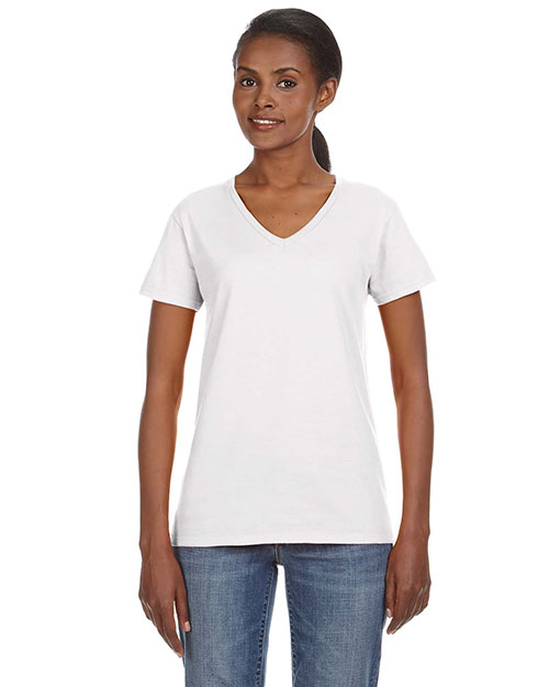 Anvil 88VL Women Lightweight V-Neck T-Shirt at GotApparel