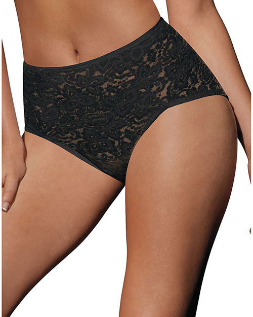 Bali 8L14 Women Lace N Smooth Brief Panties Shapewear at GotApparel