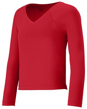 Augusta 9013 Girls V-Neck Long Sleeve Liner at GotApparel