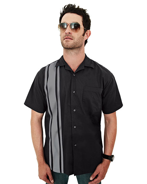 Tri-Mountain 909 Men Cobra Short-Sleeve Twill Camp Shirt at GotApparel