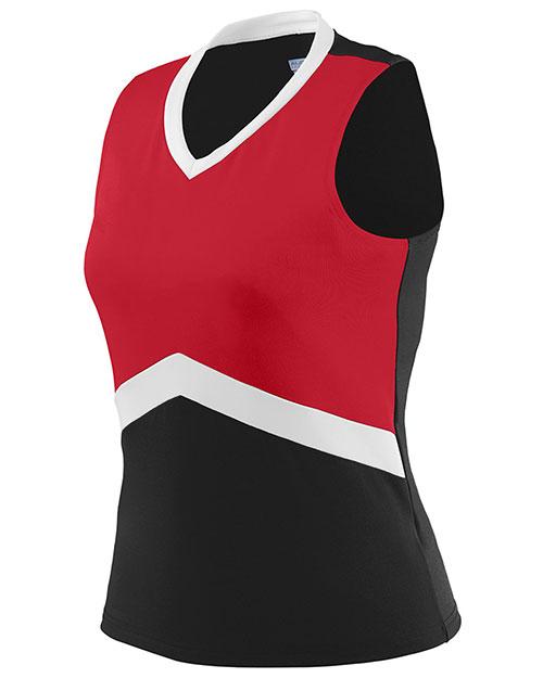 Augusta 9201 Girls Sleeveless Cheerflex Cheer Shell V-Neck at GotApparel