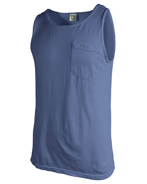 Chouinard 9330 Adult Comfort Colors Tank Top with Pocket at GotApparel