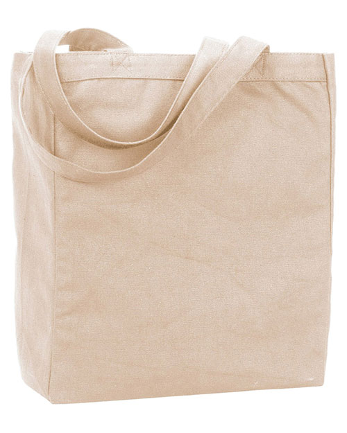 UltraClub 9861 Women Recycled Cotton Canvas Tote With Gusset at GotApparel