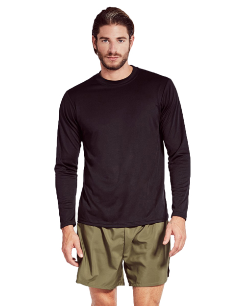 Soffe 991A Men Adult Long-Sleeve Tee Closed Hole Mesh at GotApparel