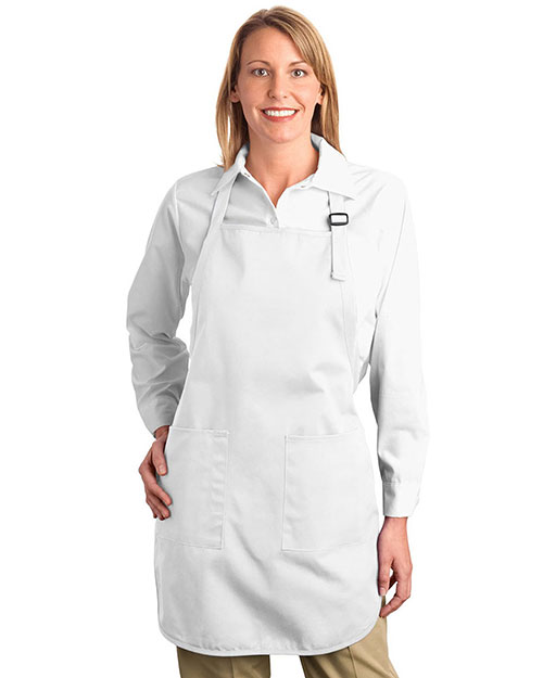 Port Authority A500 Unisex Full Length Apron With Pocket at GotApparel