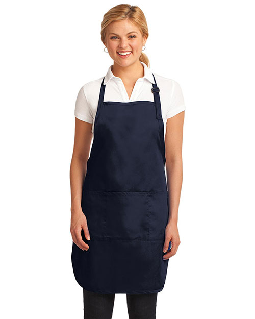 Port Authority A703 Women Easy Care Fulllength Apron With Stain-Release at GotApparel