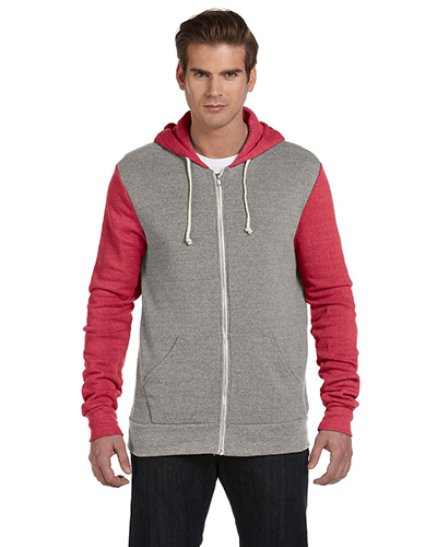 Custom Embroidered Alternative Apparel AA3203 Rocky Colorblocked Full Zip Hoodie at GotApparel