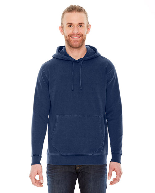 Authentic Pigment AP207 MenFrench Terry Hoodie at GotApparel
