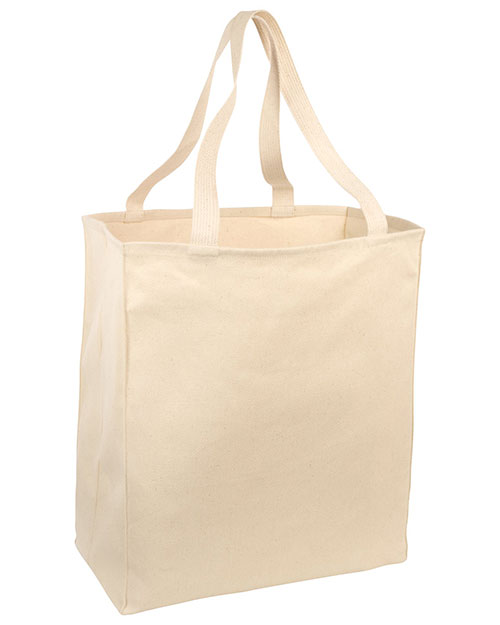 Port & Company B110 Unisex OvertheShoulder Grocery Tote at GotApparel