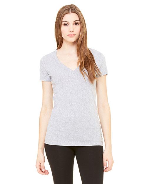 Bella + Canvas B6035 Women Jersey Short-Sleeve Deep V-Neck T-Shirt at GotApparel
