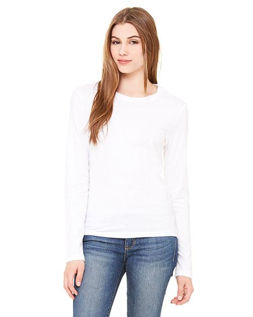 Bella + Canvas B6500 Women Jersey Long-Sleeve T-Shirt at GotApparel