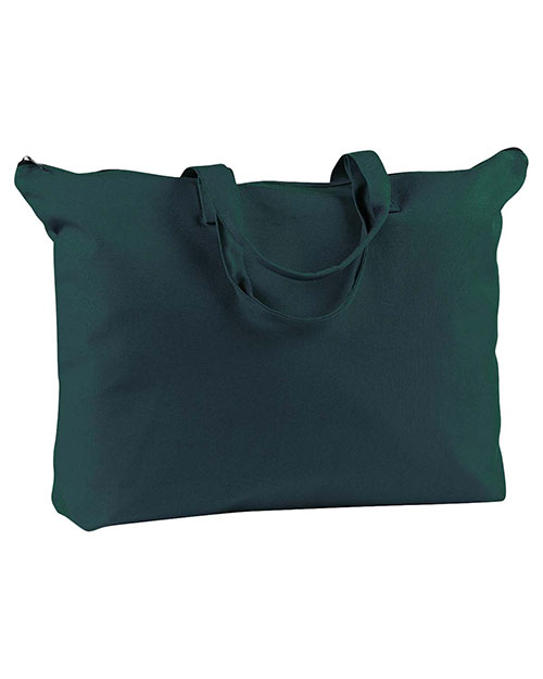 BAGedge BE009 Women  12 Oz. Canvas Zippered Book Tote at GotApparel