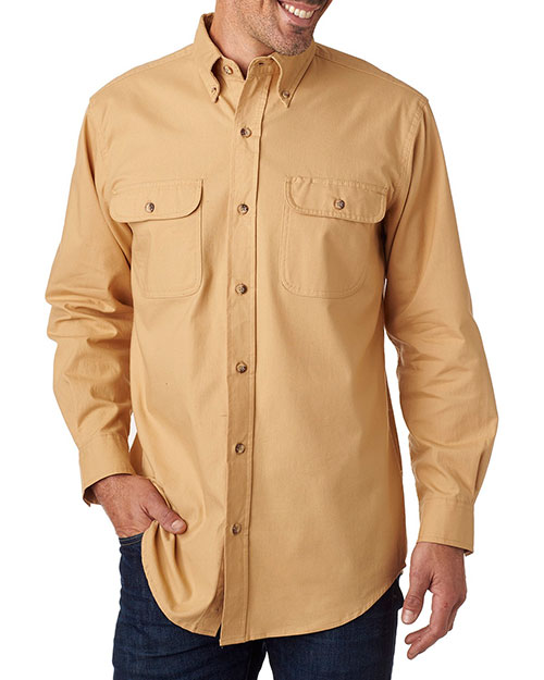 Backpacker BP7005 Men Solid Flannel Shirt at GotApparel