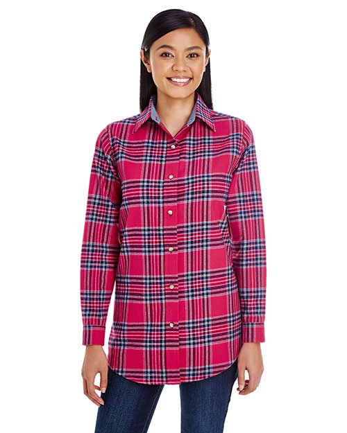 Backpacker BP7030 Women Yarn-Dyed Flannel Shirt at GotApparel