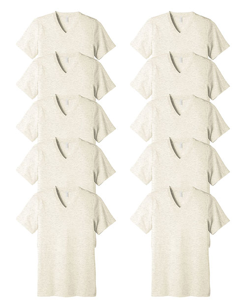 Bella + Canvas 3415C Unisex Tri-Blend Short-Sleeve V-Neck Tee 10-Pack at GotApparel