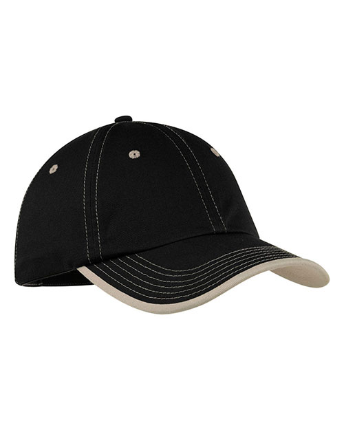 Port Authority C835 Men Vintage Washed Contrast Stitch Cap at GotApparel