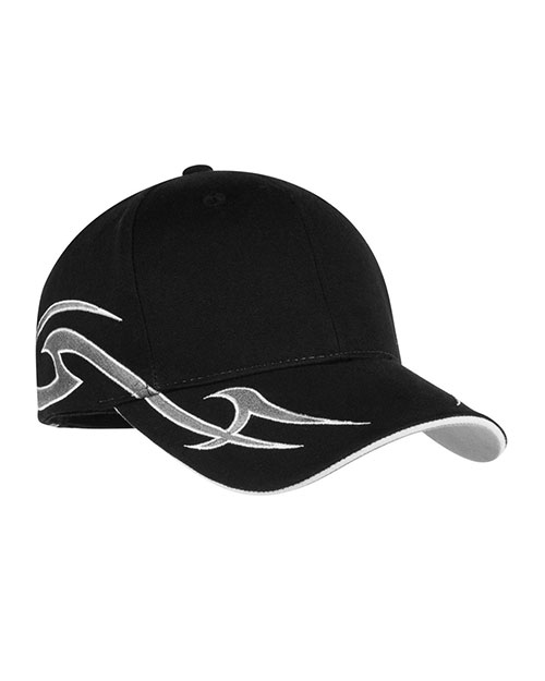Port Authority C878 Men Racing Cap with Sickle Flames at GotApparel