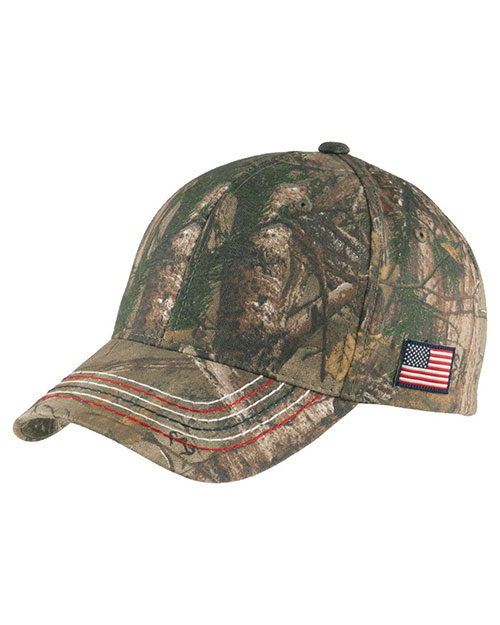Port Authority C909 Men Americana Contrast Stitch Camouflage Cap at GotApparel