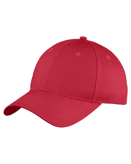 Port & Company YC914 Boys Six-Panel Unstructured Twill Cap at GotApparel