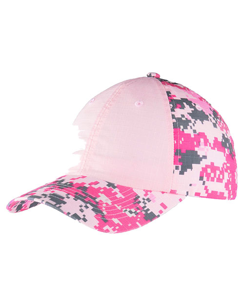Port Authority C926 Unisex Colorblock Digital Ripstop Camouflage Cap at GotApparel