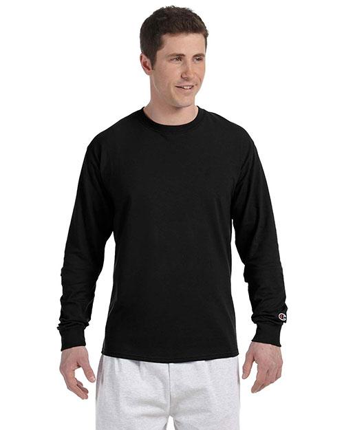Custom Embroidered Champion CC8C Men 5.2 Oz. Long-Sleeve T-Shirt at GotApparel