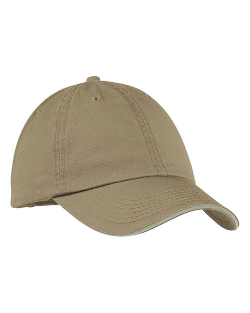 Port & Company CP79 Men Washed Twill Sandwich Bill Cap at GotApparel