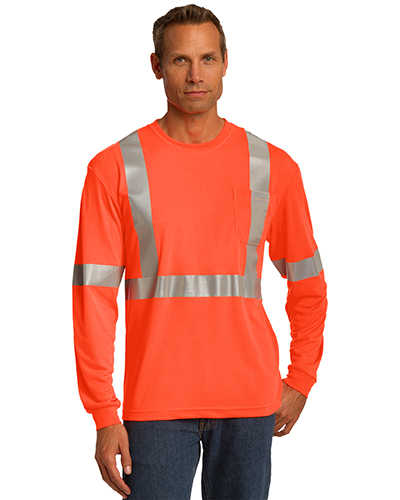 Cornerstone CS401LS Men Ansi 107 Class 2 Long-Sleeve Safety T-Shirt at GotApparel