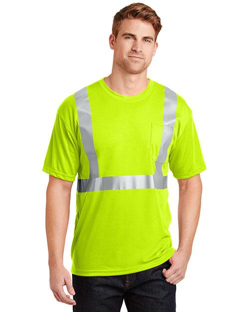 Cornerstone CS401 Men Ansi 107 Class 2 Safety T-Shirt at GotApparel
