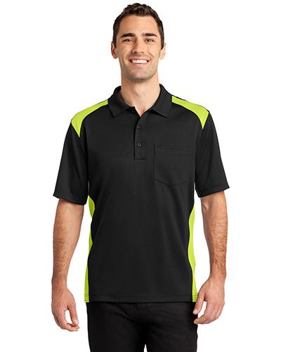 Cornerstone CS416 Men Select Snag-Proof Two Way Colorblock Pocket Polo at GotApparel