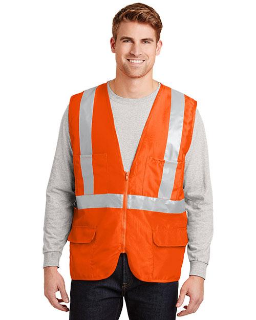 Cornerstone CSV405 Men Ansi 107 Class 2 Mesh Back Safety Vest at GotApparel