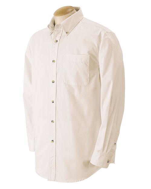 Devon & Jones Classic D555 Men Performance Long-Sleeve Twill at GotApparel