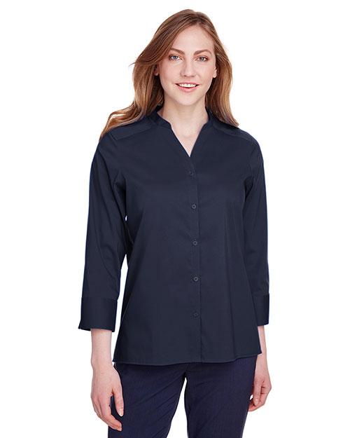 Devon & Jones DG560W women Crown Collection Stretch Broadcloth 3/4 Sleeve Blouse at GotApparel