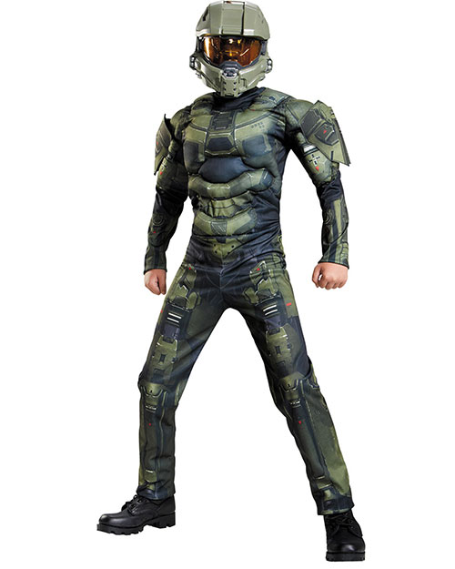 Halloween Costumes DG89975K Boys Master Chief Classic Mus 78 at GotApparel