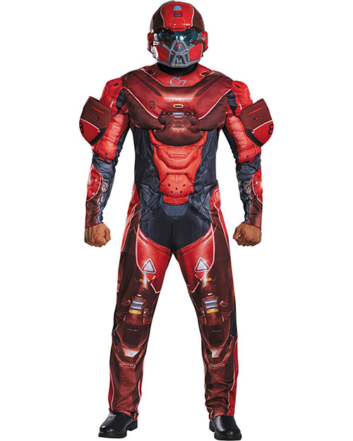 Halloween Costumes DG97558T Men Red Spartan Muscle 38-40 at GotApparel