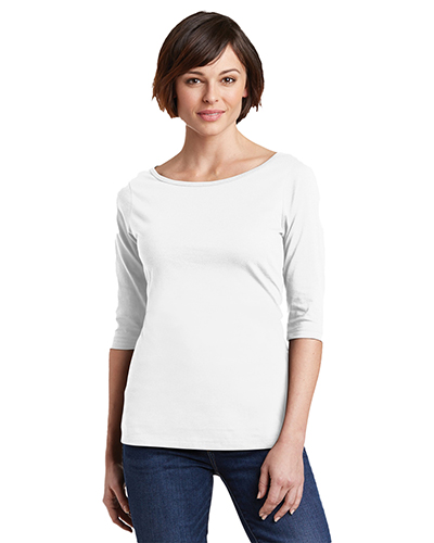 District Made DM107L Women Perfect Weight 3/4-Sleeve Tee at GotApparel