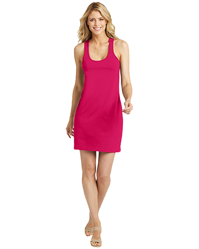 District Made DM423 Women 60/40 Racerback Dress at GotApparel