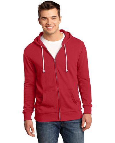District DT190 Men Core Fleece Full-Zip Hoodie at GotApparel