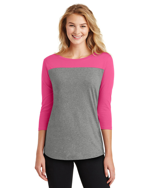 District DT2700 Women   Junior Rally 3/4-Sleeve Tee at GotApparel